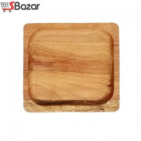 ظرف سرو تک خانه مربع چوبی