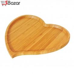 بشقاب چوبی طرح قلب