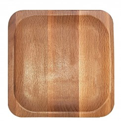 بشقاب چوبی مربع راش