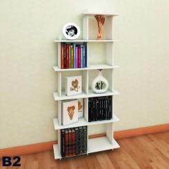 کتابخانه نه خانه چوبی جدا شونده مدل b33