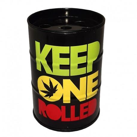 جا سیگاری فلزی طرح Keep one rolled