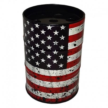 جاسیگاری فلزی طرح پرچم آمریکا