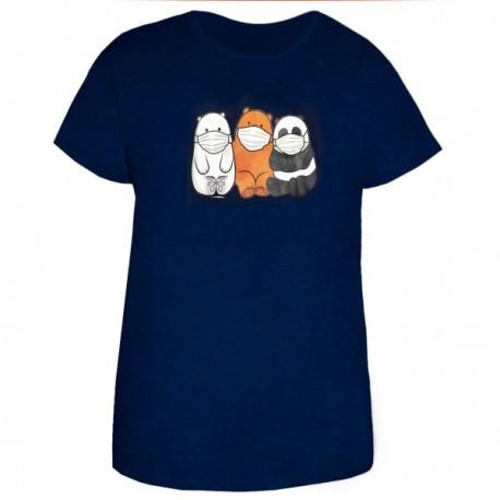 تی شرت زنانه ویسکوز طرح خرس های برهنه