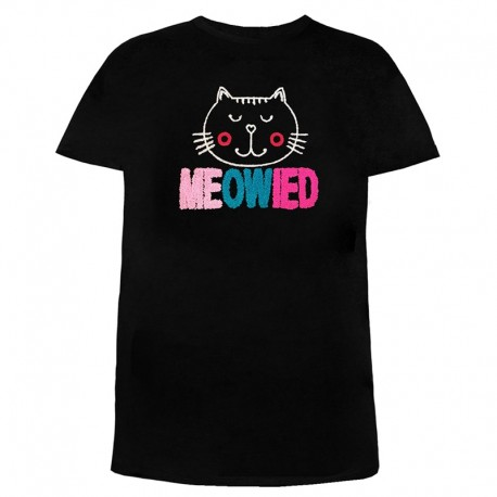 تی شرت زنانه و دخترانه طرح گربه