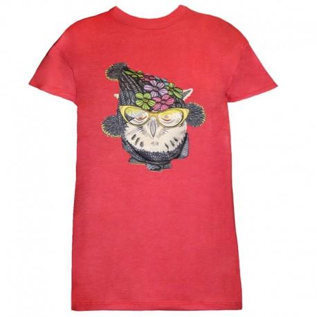 تی شرت زنانه و دخترانه طرح جغد