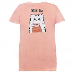 تی شرت زنانه و دخترانه طرح تی تایم
