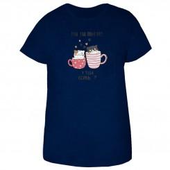 تی شرت زنانه و دخترانه طرح گربه ی فنجانی