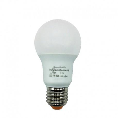 لامپ ال ای دی 7 وات مهتابی نمانور مدل A55 سرپیچ E27