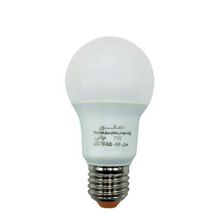 لامپ ال ای دی 7 وات آفتابی نمانور مدل A55 سرپیچ E27
