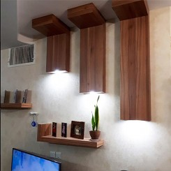 شلف چوبی دیواری MDF طرح L ارتفاع 30