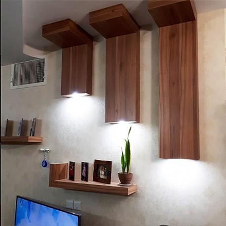 شلف چوبی دیواری طرح L ارتفاع 30