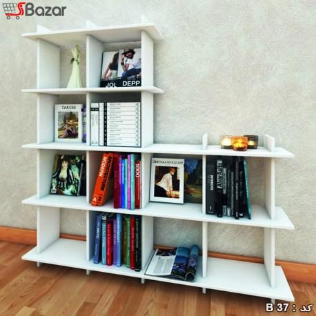 کتابخانه دوازده خانه چوبی MDF