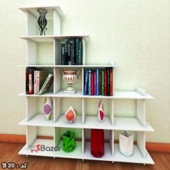 کتابخانه چهارده خانه چوبی مربع