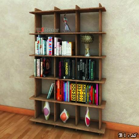 کتابخانه پانزده خانه MDF