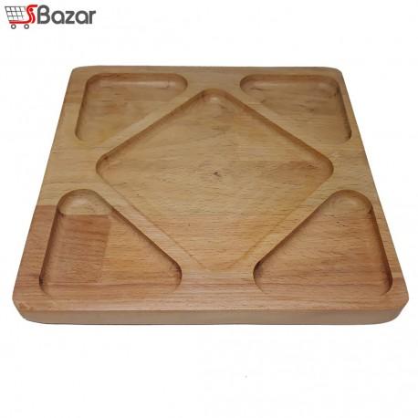 ظرف پذیرایی پنج خانه چوبی مربع