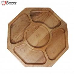 ظرف آجیل و تنقلات چوبی طرح هشت ضلعی