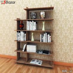 کتابخانه چوبی ترکیبی چهار + پنج خانه