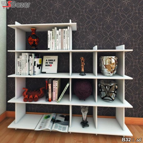 کتابخانه مربع مستطیل ترکیبی 4+6 خانه