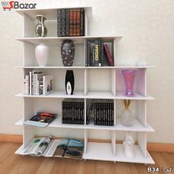 کتابخانه هفت + پنج خانه مربع مستطیل ترکیبی