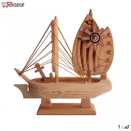 کشتی چوبی دکوری موزیکال