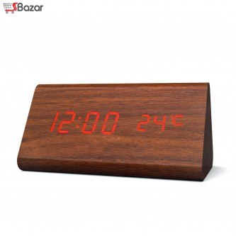 ساعت رومیزی هوشمند طرح چوب بزرگ