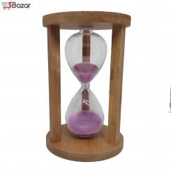 ساعت شنی زمان دار چوبی