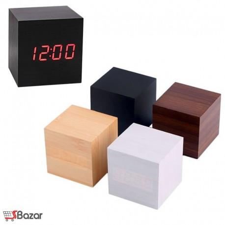 ساعت دیجیتالی طرح چوب مکعب