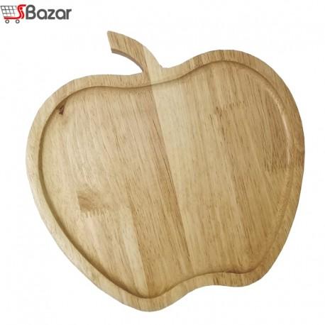 بشقاب چوبی طرح سیب