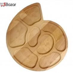 ظرف سرو چوبی طرح حلزون