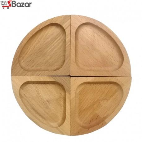 ظرف تنقلات چهار تکه چوبی