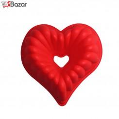 قالب سیلیکونی قلب شیفون دار متوسط
