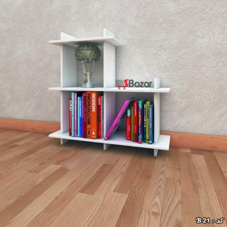 کتابخانه چوبی سه خانه