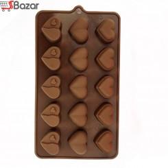 قالب شکلات سیلیکونی طرح قلب فستیوال